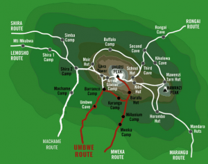 Umbwe Map