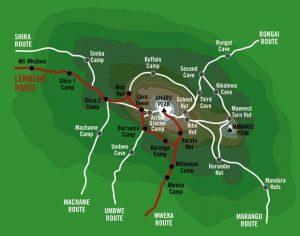 Lemosho Map