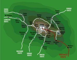 marangu map